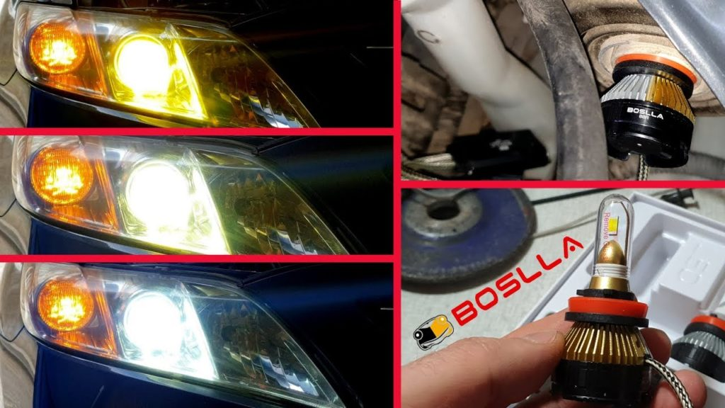 9005 H11 H8 LED Headlight Bulbs Kit High Low Beam Fog For Toyota Camry 2007-2014